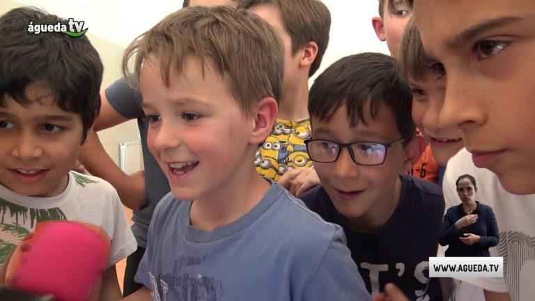 Filipe Pinto visita Escola Básica da Borralha
