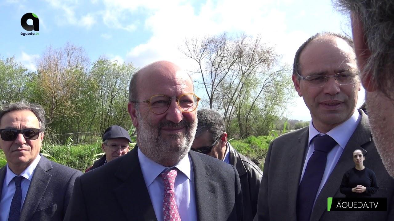 Ministro do Ambiente e da Ação Climática visita intervenção no Rio Cértima