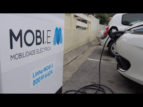 Posto de carregamento de carros elétricos – MOBI.E